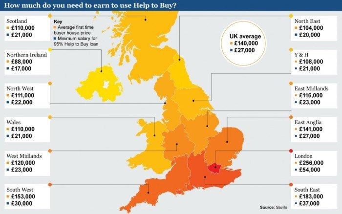 Программа  помощи покупателям «Help to buy» привела к невиданным темпам строительства в Англии